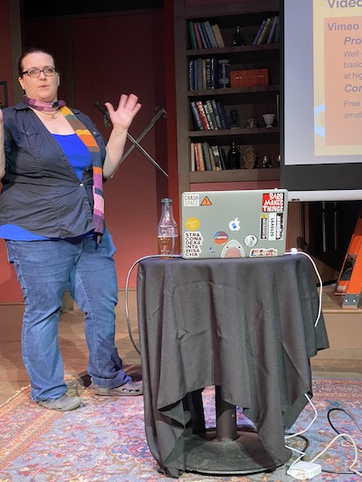 Onstage at Sparklecon 2020